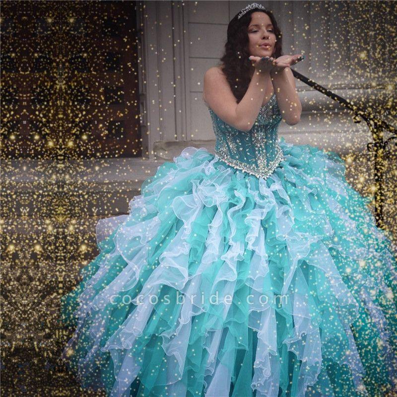 Graceful Sweetheart Organza Ball Gown Quinceanera Dress