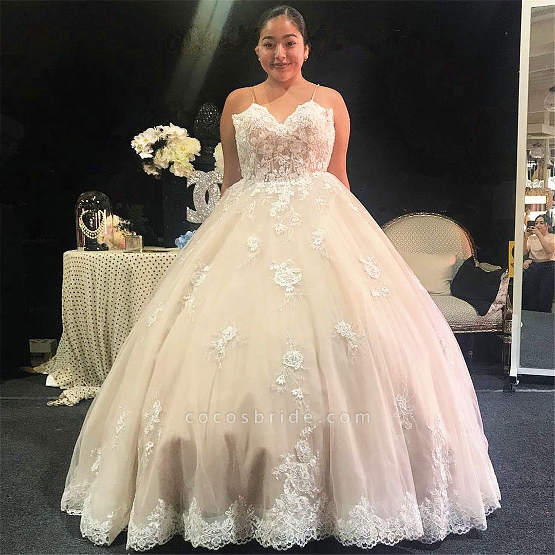 Glorious Spaghetti Straps Tulle Ball Gown Quinceanera Dress