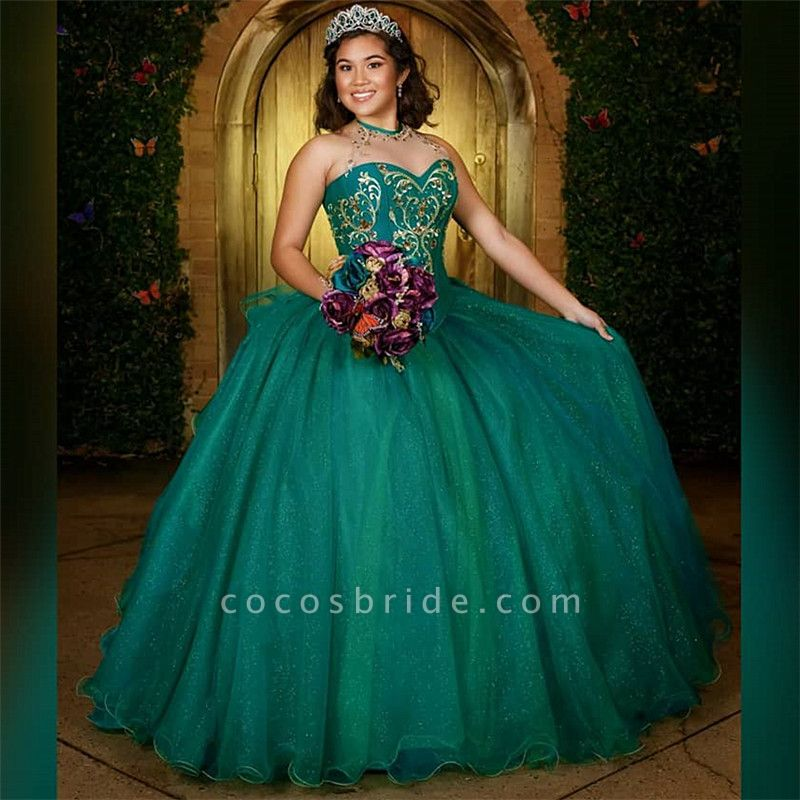 Graceful Jewel Tulle Ball Gown Quinceanera Dress