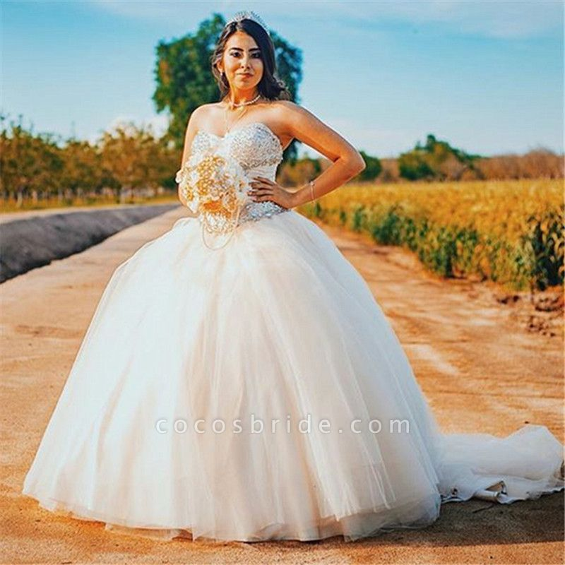 Wonderful Sweetheart Tulle Ball Gown Quinceanera Dress
