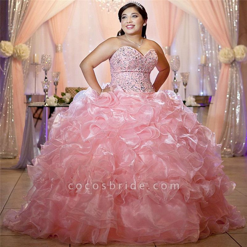 Chic Sweetheart Tulle Ball Gown Quinceanera Dress