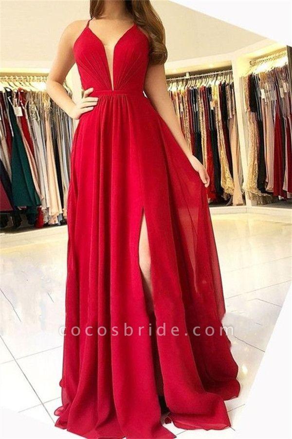 Best Halter Split Front A-line Prom Dress