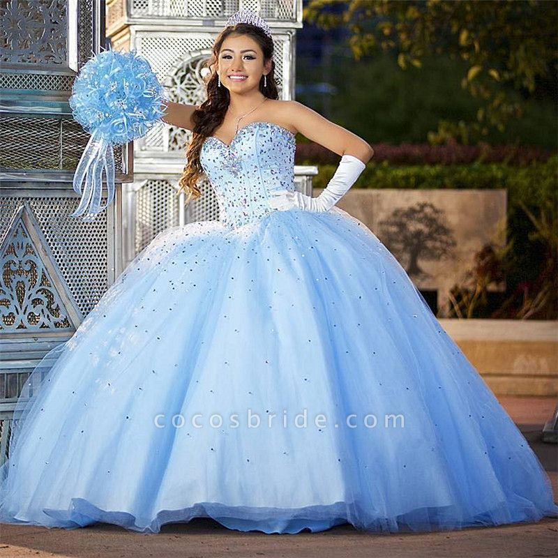 Fabulous Sweetheart Tulle Ball Gown Quinceanera Dress