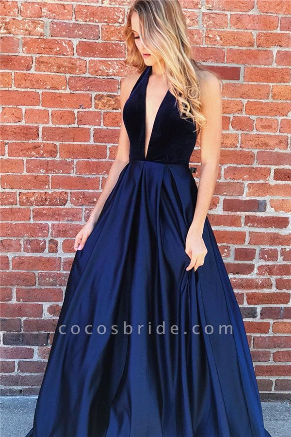 Amazing Halter Ruched A-line Prom Dress