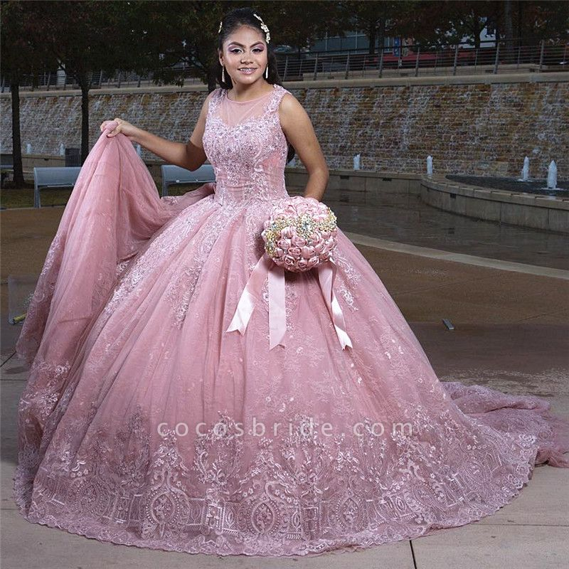 Fabulous Jewel Tulle Ball Gown Quinceanera Dress