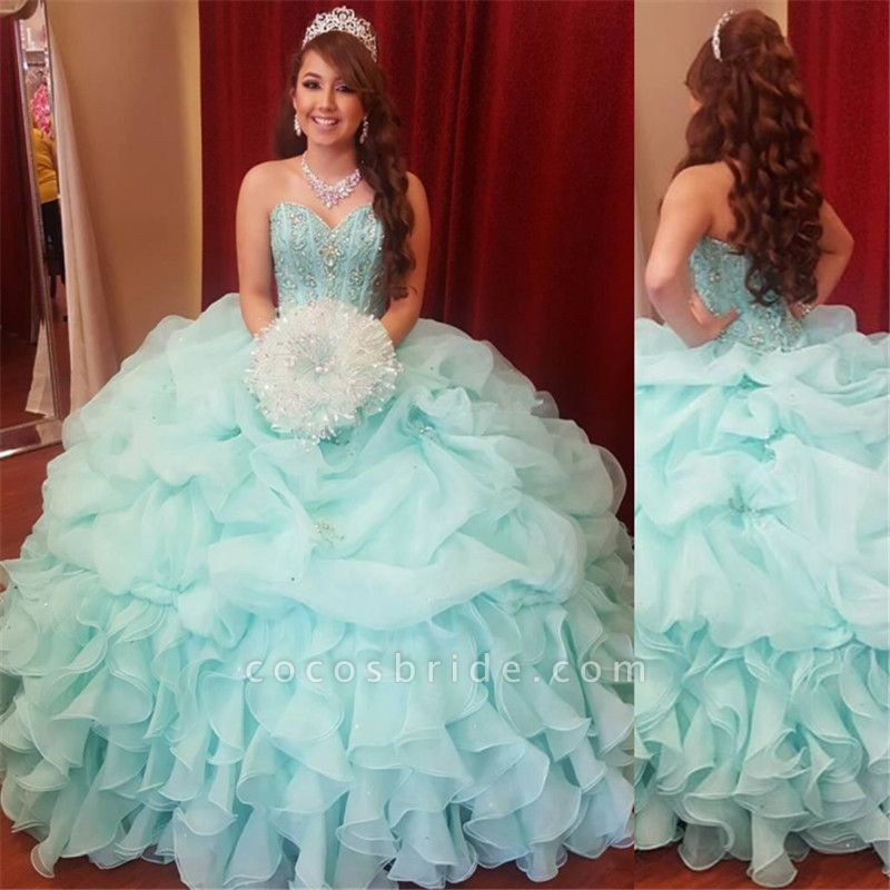 Fascinating Sweetheart Tulle Ball Gown Quinceanera Dress