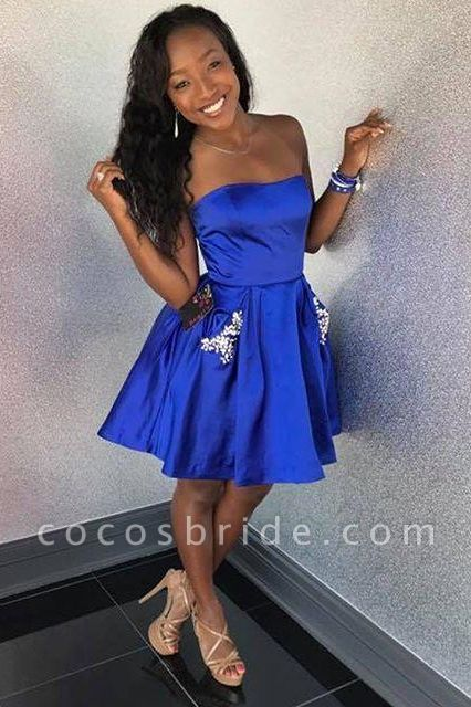 Strapless Sweetheart Beading Homecoming Dress