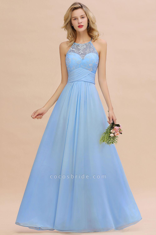 BM0776 Elegant Appliques Jewel Sleeveless Bridesmaid Dress Online