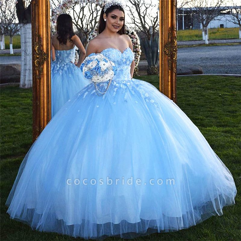 Awesome Sweetheart Tulle Ball Gown Quinceanera Dress