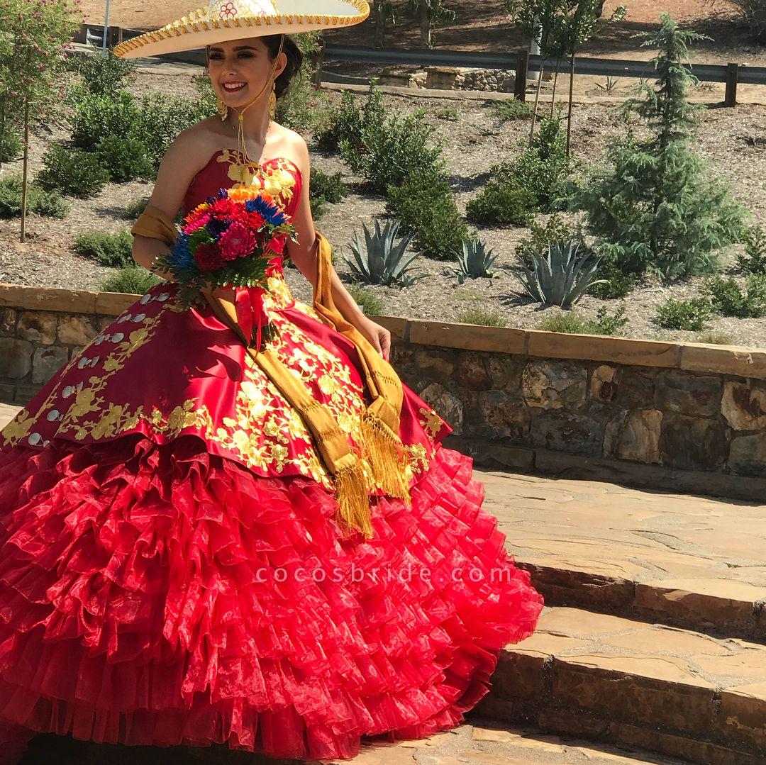 Best Sweetheart Satin Ball Gown Quinceanera Dress