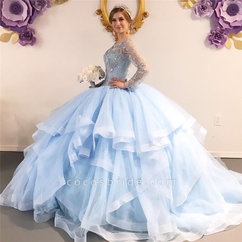 Excellent Jewel Tulle Ball Gown Quinceanera Dress