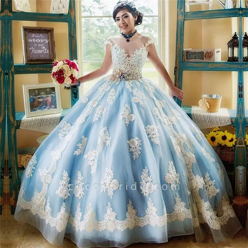 Awesome Jewel Tulle Ball Gown Quinceanera Dress