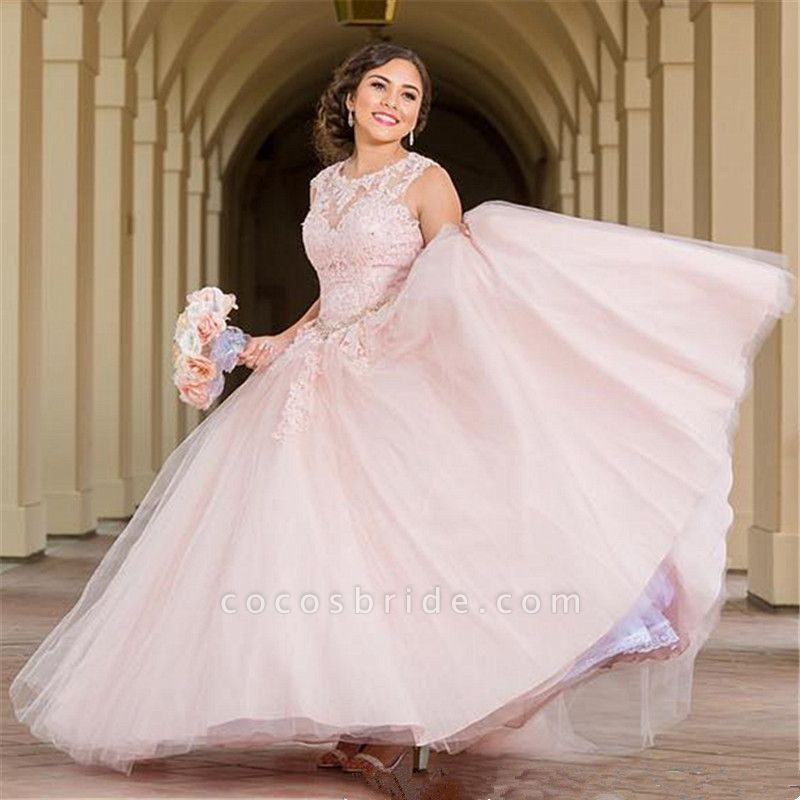 Elegant Jewel Tulle Ball Gown Quinceanera Dress