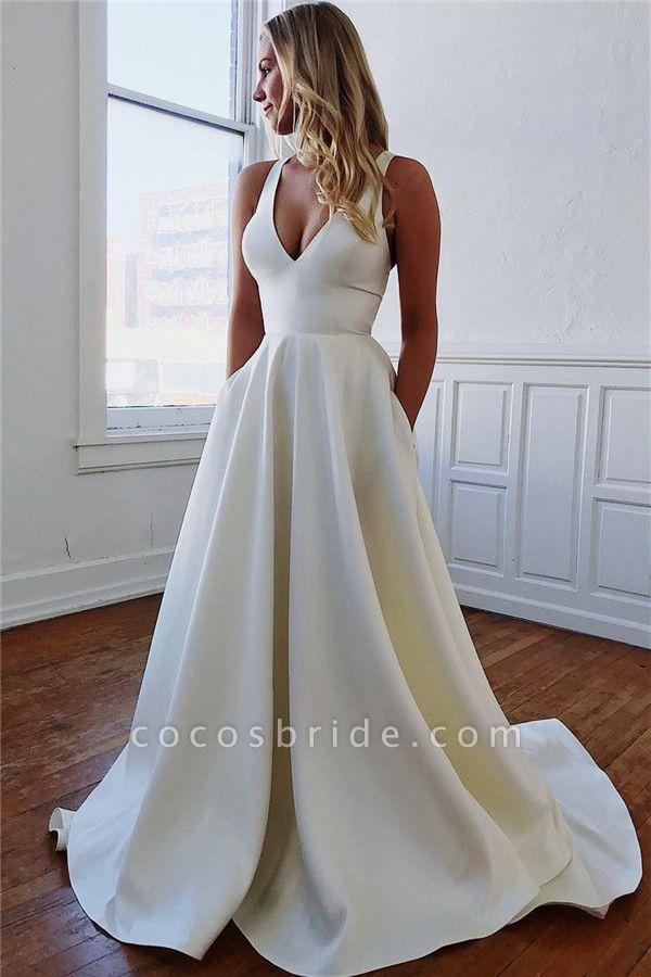 Excellent Straps Bow A-line Prom Dress