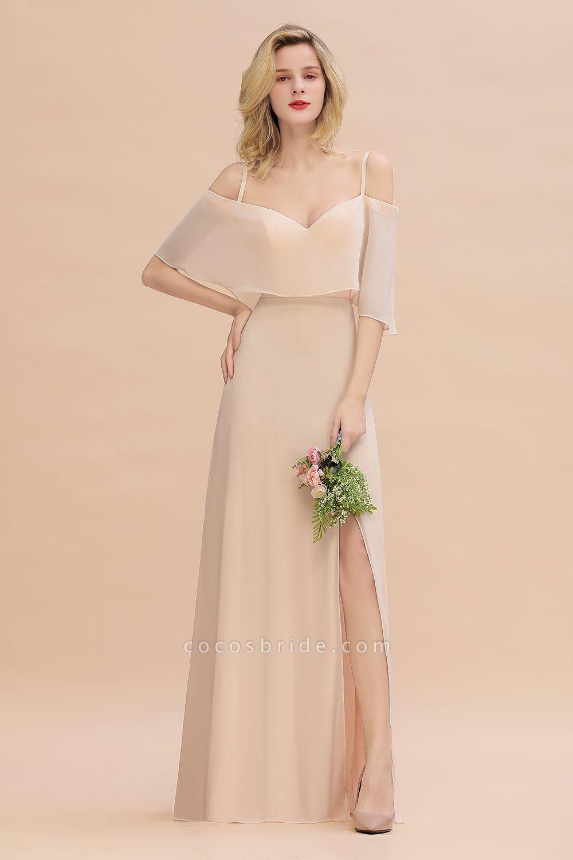 BM0759 Spaghetti Straps Side Split Bridesmaid Dress