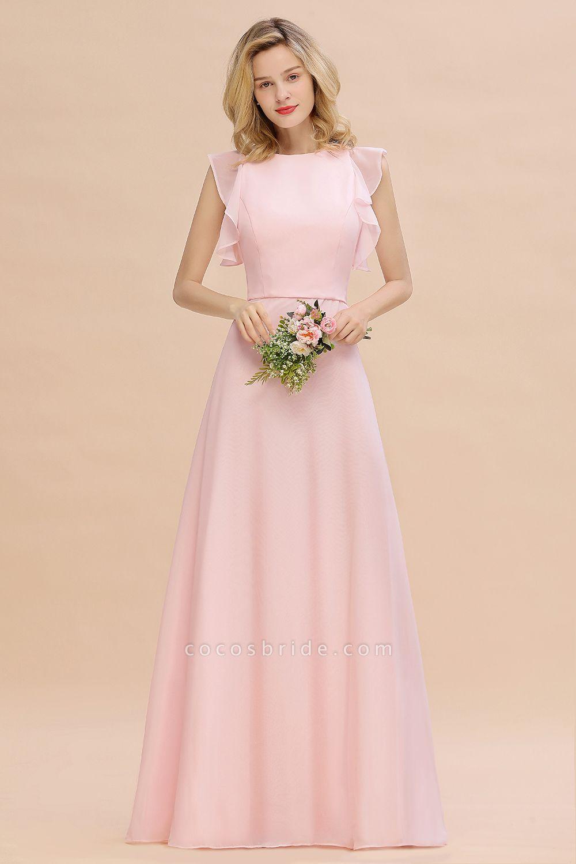 BM0783 Elegant Simple Jewel Sleeveless A-line Bridesmaid Dress