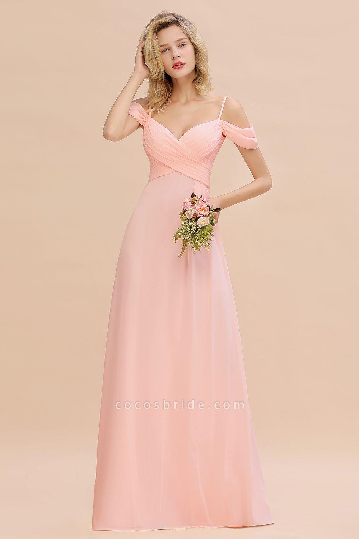 BM0786 Spaghetti Straps Sweetheart Ruffles Bridesmaid Dress