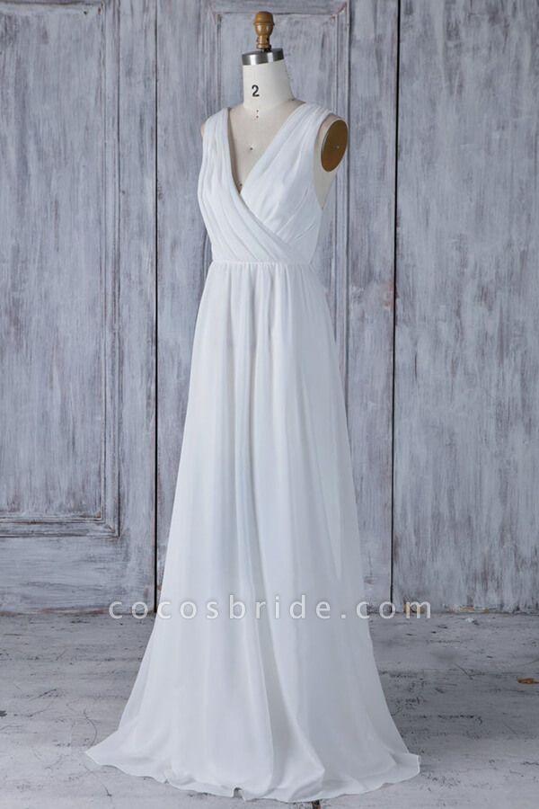 Elegant Ruffle Chiffon A-line Wedding Dress
