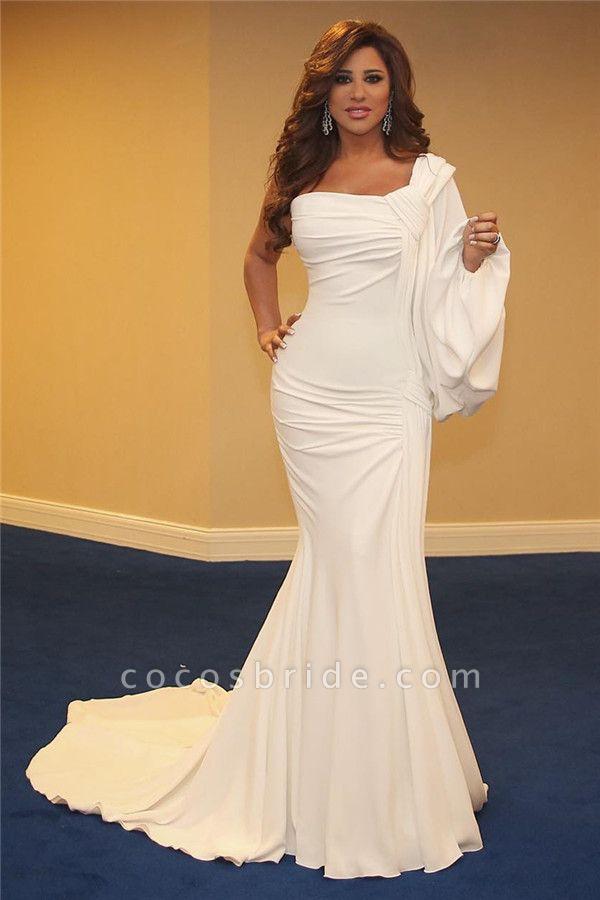 Glorious One Shoulder Spandex Mermaid Evening Dress