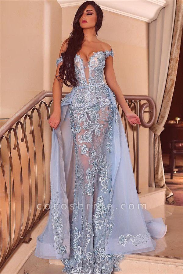 Graceful Off-the-shoulder Tulle Mermaid Evening Dress