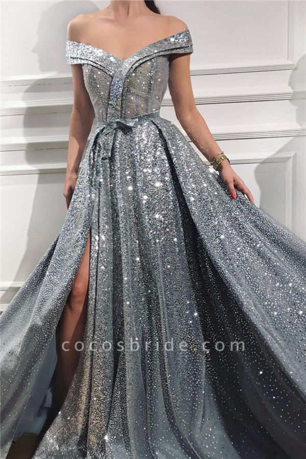Beautiful Sweetheart Sequined A-line Prom Dress