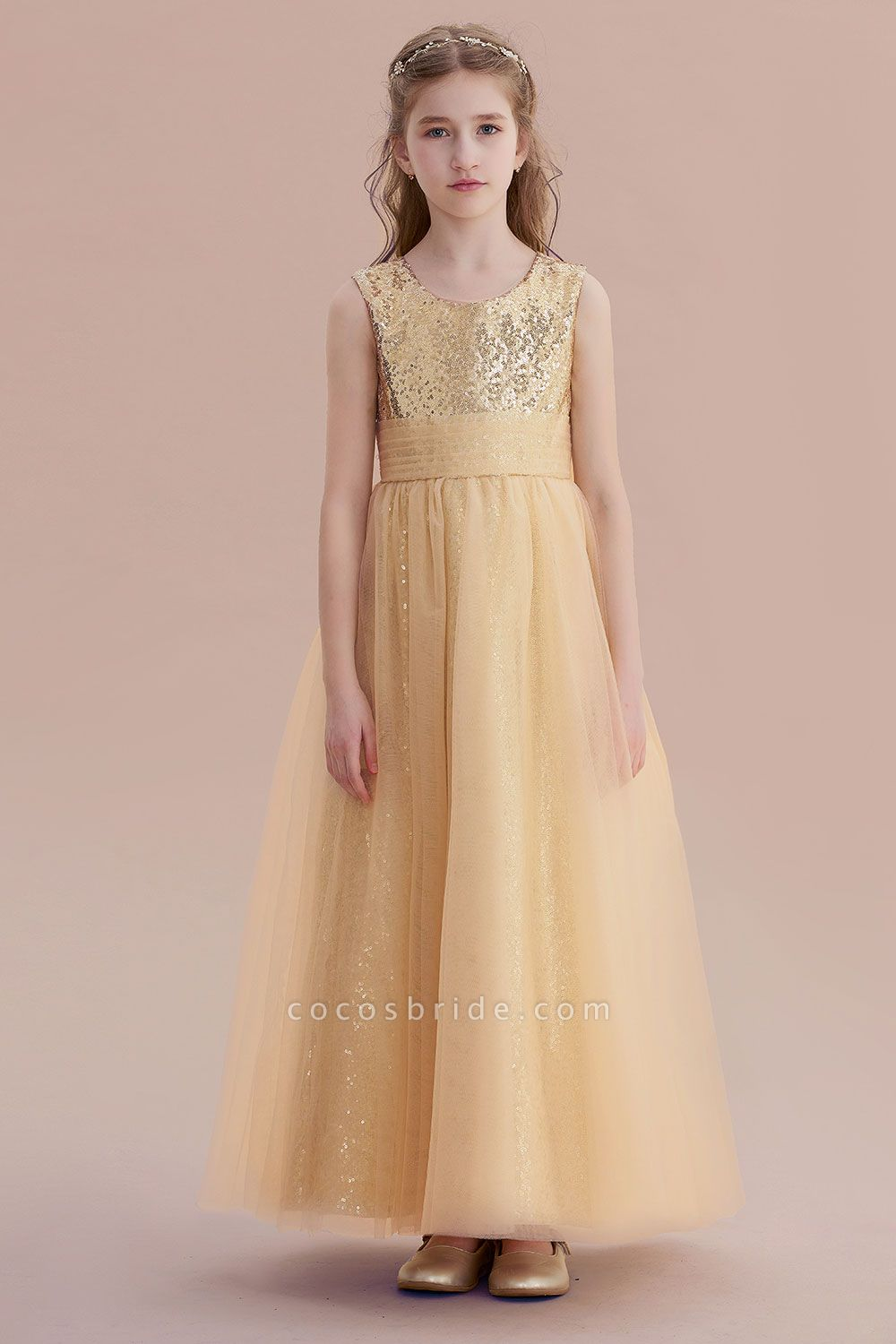 Awesome Sequins Tulle Flower Girl Dress