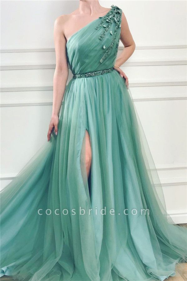 Fabulous One Shoulder Tulle A-line Prom Dress