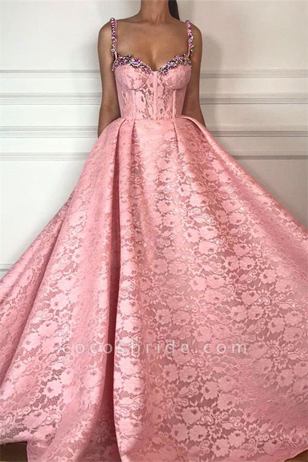 Exquisite Sweetheart Lace Ball Gown Prom Dress