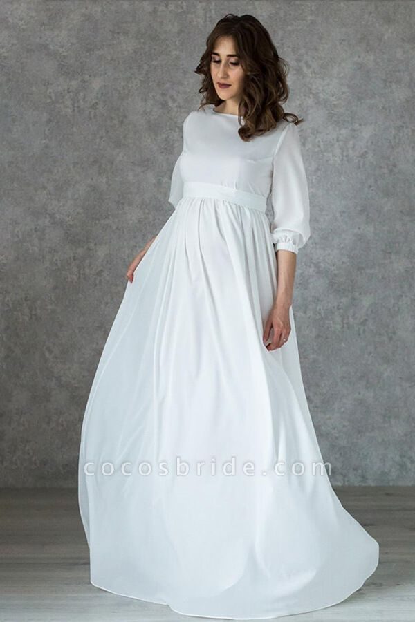 Awesome Floor Length Chiffon Wedding Dress