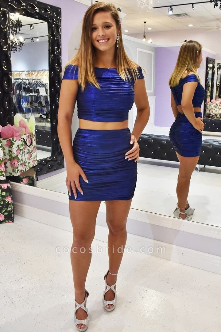 Stylish Off the Shoulder Homecoming Dress