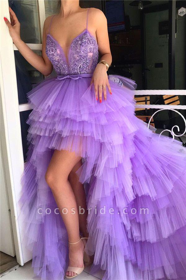 Chic V-neck Tulle Prom Dress