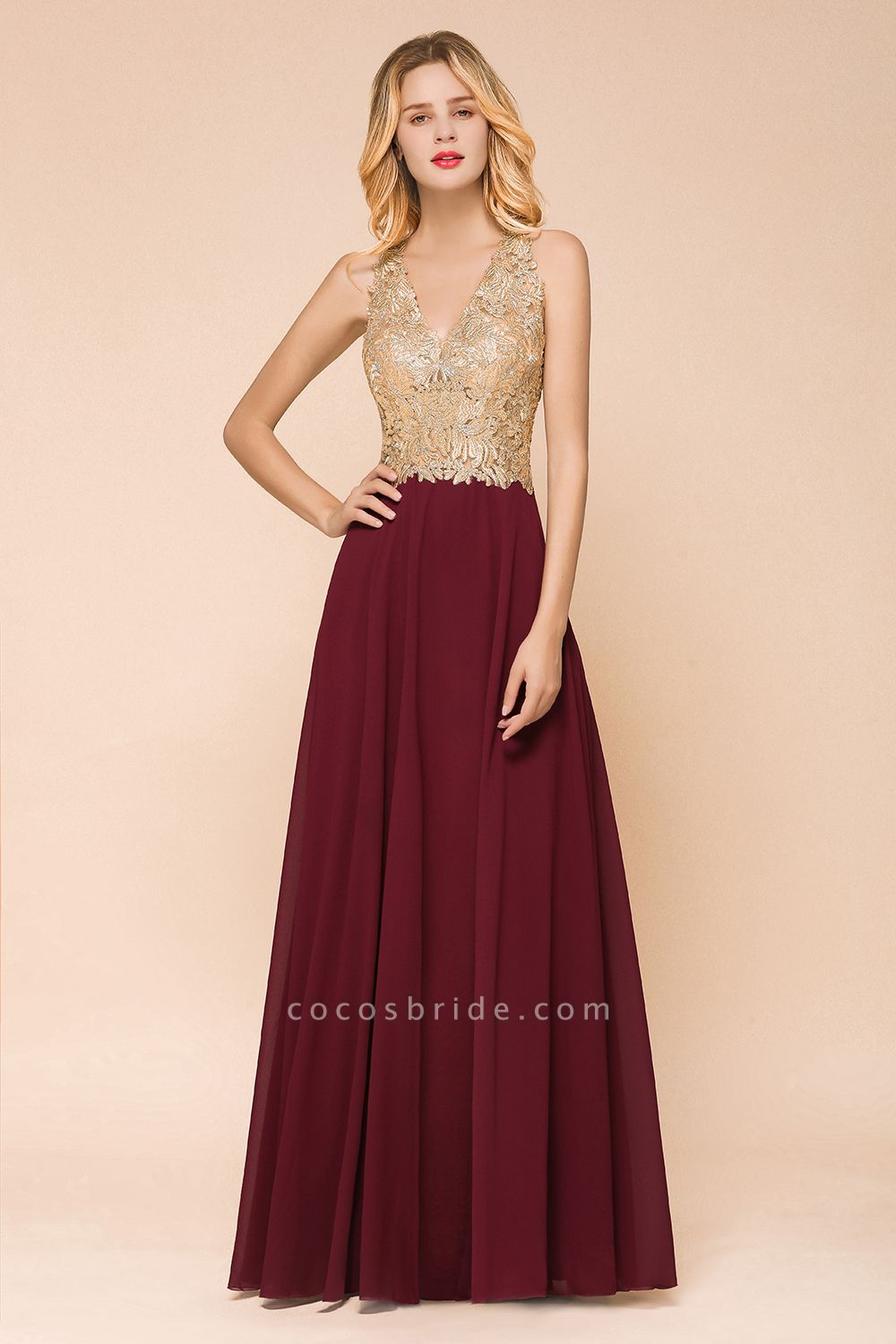 Awesome V-neck Chiffon Evening Dress