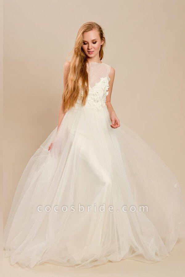 Eye-catching Beading Tulle A-line Wedding Dress