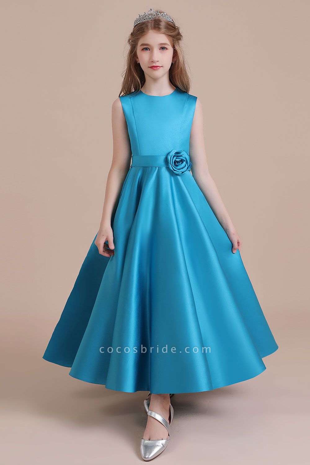 Awesome Satin A-line Flower Girl Dress