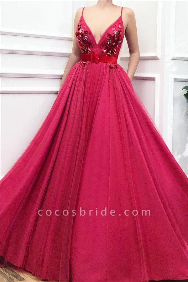 Wonderful Spaghetti Straps Tulle A-line Prom Dress
