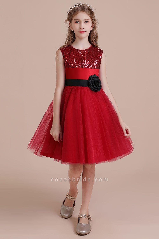Graceful Sequins Tulle A-line Flower Girl Dress