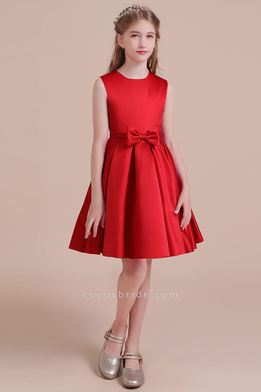 Latest A-line Satin Flower Girl Dress
