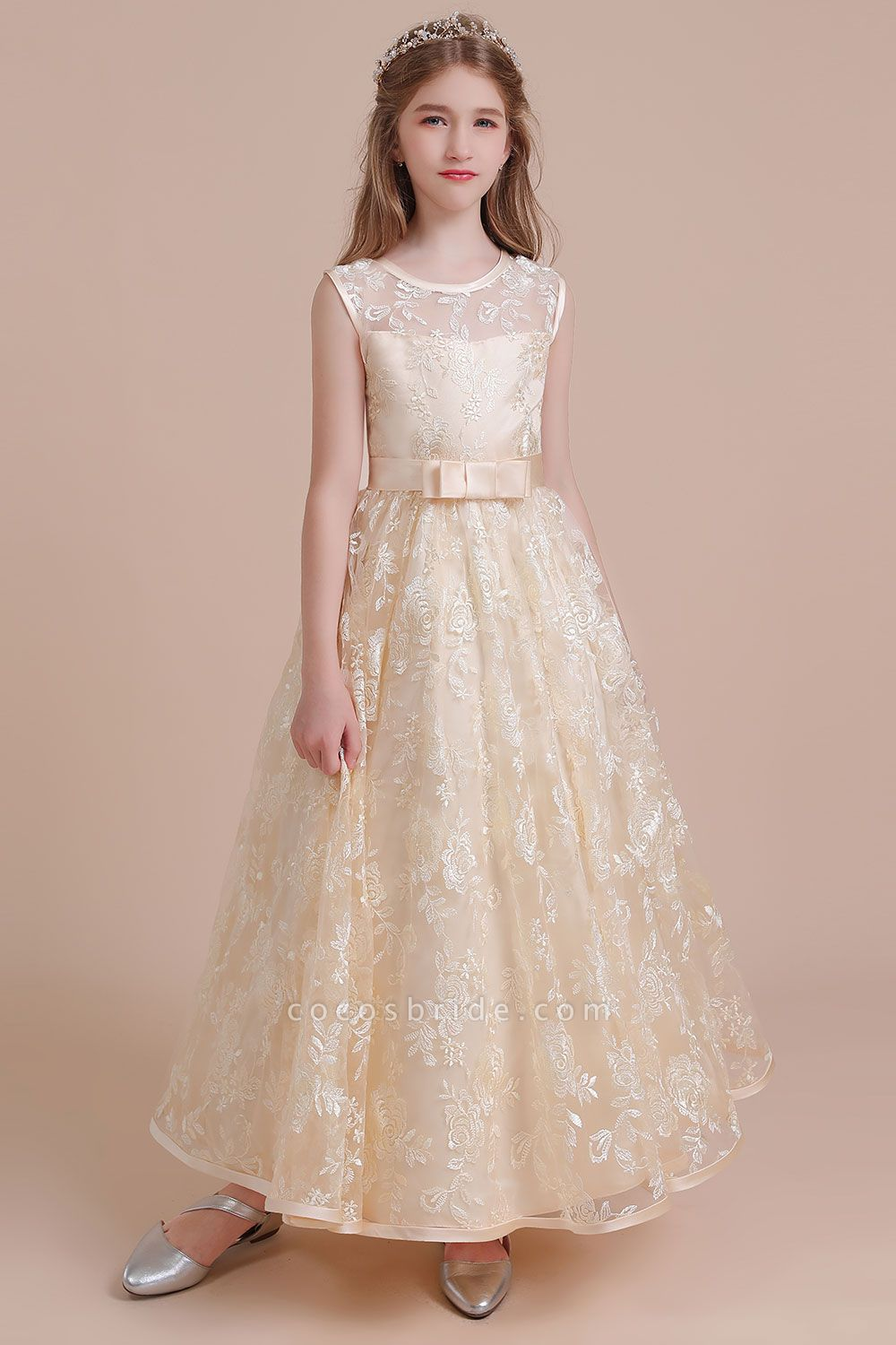 Amazing Lace Tulle A-line Flower Girl Dress