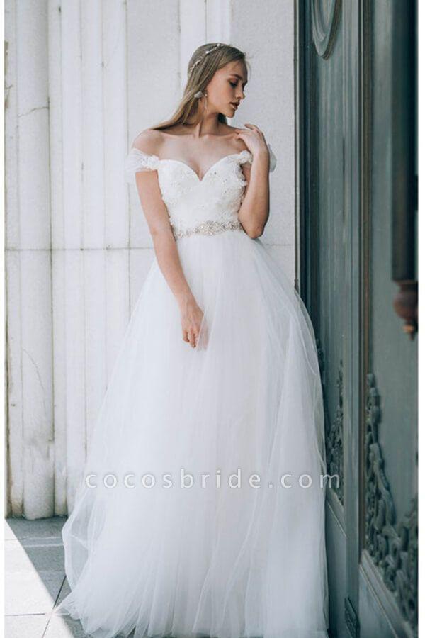 Sweetheart Beading Tulle A-line Wedding Dress