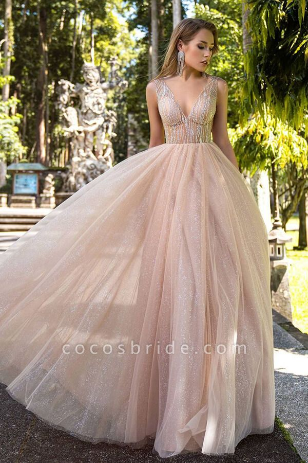 Awesome Glitter Tulle A-line Wedding Dress