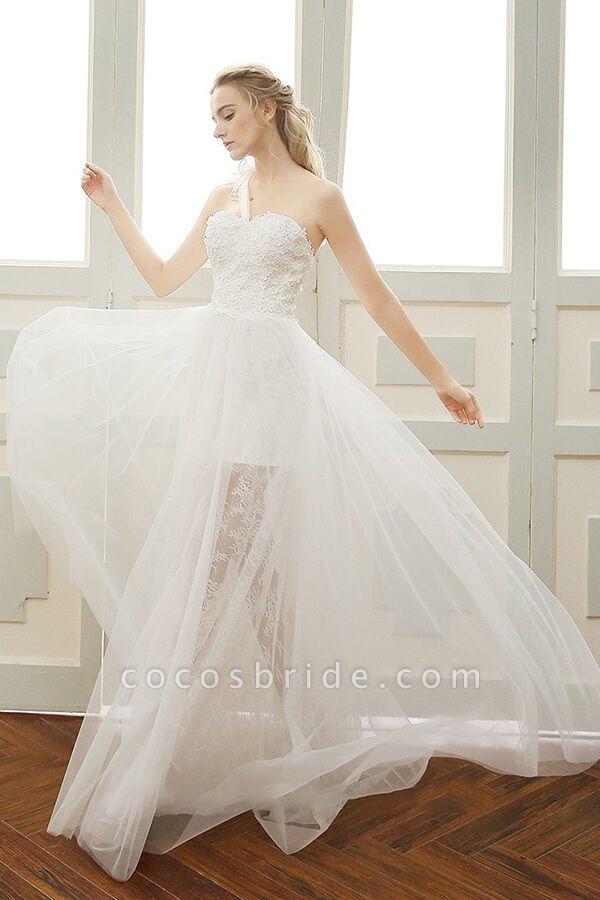 Elegant One Shoulder Tulle A-line Wedding Dress
