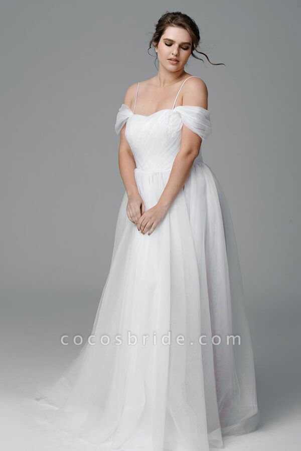 Plus Size Ruffle Tulle A-line Wedding Dress