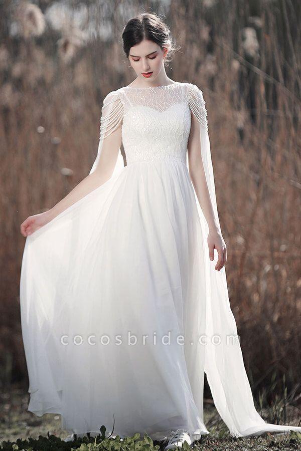 Eye-catching Beading Chiffon A-line Wedding Dress