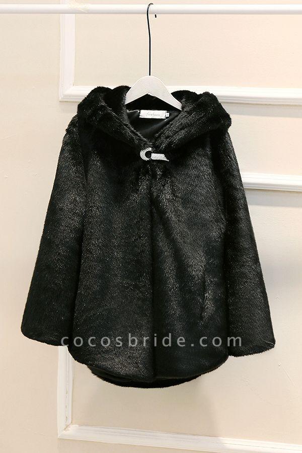 Hooded Daily Basic Club Faux Fur Coat