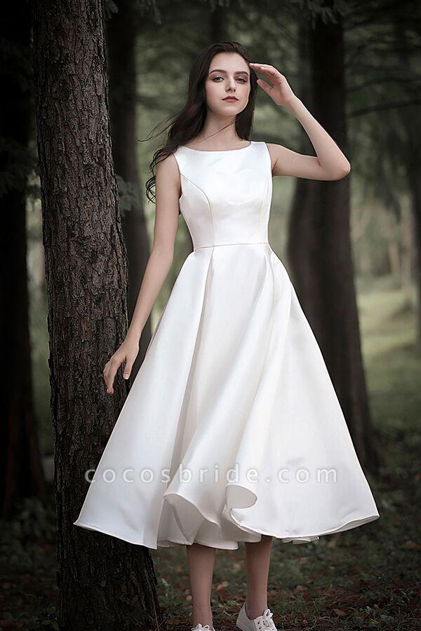 Graceful Satin A-line Wedding Dress