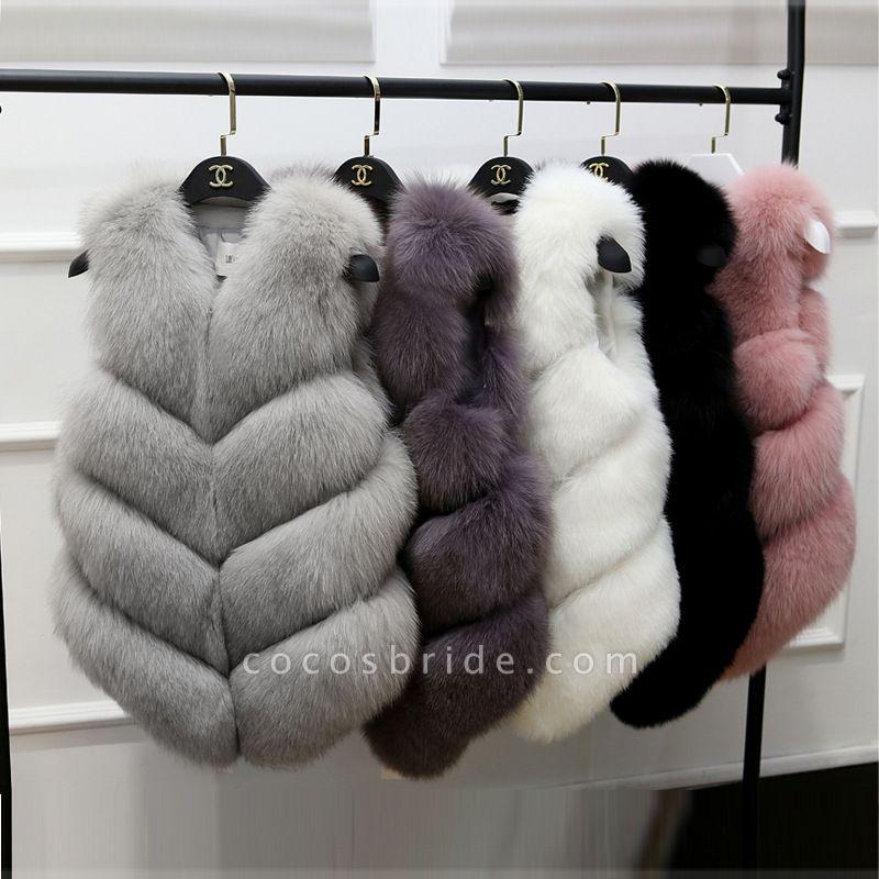 Women's Daily Basic Winter Regular Faux Fur Coats