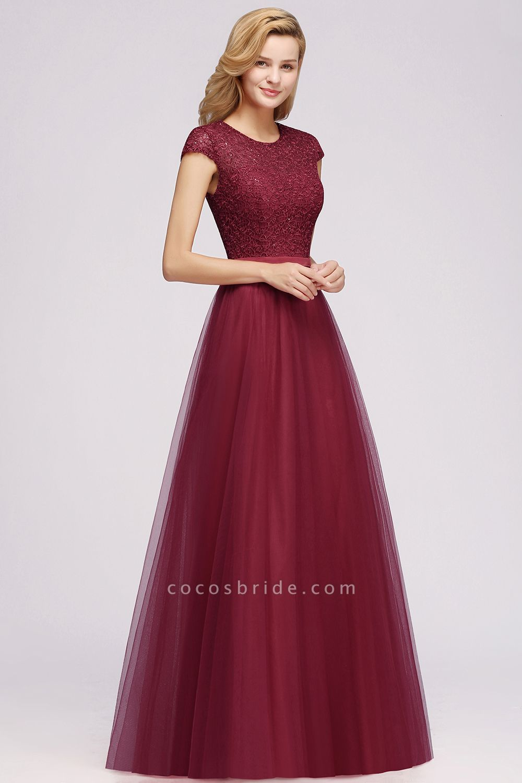 Graceful Jewel Tulle A-line Evening Dress