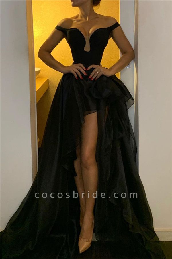 Chic Off-the-shoulder Organza A-line Prom Dress