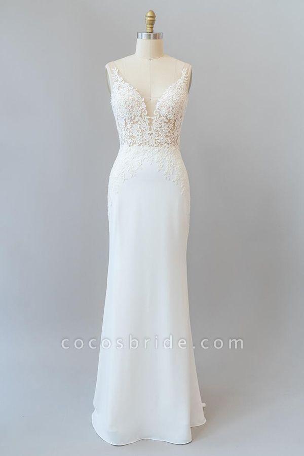 Elegant Lace Floor Length Mermaid Wedding Dress