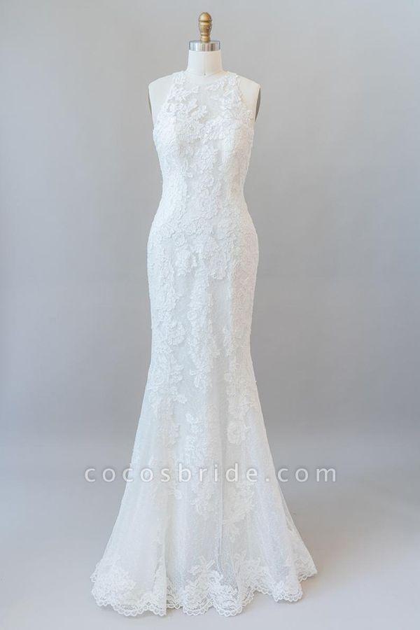 Awesome Illusion Lace Mermaid Wedding Dress